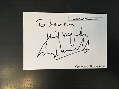 George Murcell - James Bond Film Actor Uncredited - Signed Autograph Album Page