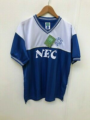 Everton FC Score Draw 1986 Retro Shirt - Large - 8 - New