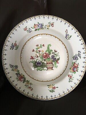 """COPELAND SPODE Peplow rimmed soup dish made for Harrods 10.5"""""""