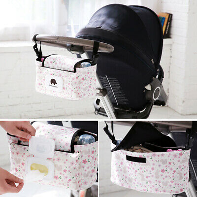 UK Baby Stroller Storage Organizer Pram Buggy Pushchair Cup Diaper Hanging Bag