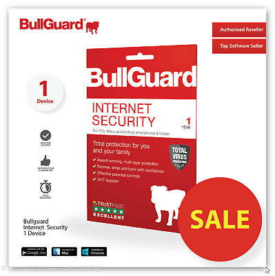 BullGuard Internet Security 2019 (1 Devices/1 Year) WINDOWS MAC ANDROID ESD