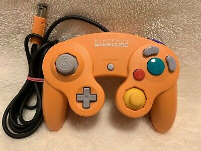 Nintendo Official GameCube Controller Orange GC Wii From Japan Clean and Tested