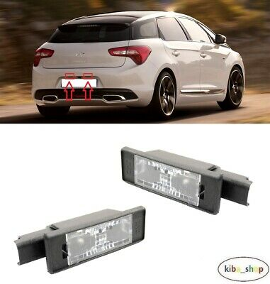 Fits Citroen DS5 1.6 TBHP 155 White 12-SMD LED COB 12v Number Plate Light Bulbs