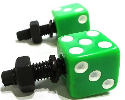 license plate bolts(2) dice green/white plastic for Kenworth Freightliner Pete