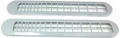 defroster vent covers(2) chrome plastic for 379 Pete Peterbilt 1995-2005