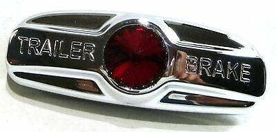 trailer brake handle cover red jewel chrome plastic for Freightliner park trim
