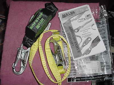 New Miller 910Wls/6Ftyl Sofstop Safety Lanyard W/snap 6'