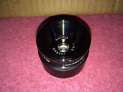 EXCELLENT NAVITAR 35 mm TELEVISION LENS F=35mm 1:3.5 TV LENS