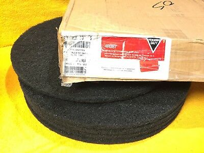 "New Case Of (5) Tough Guy 4Ru87 20"" Black Stripping Pads"