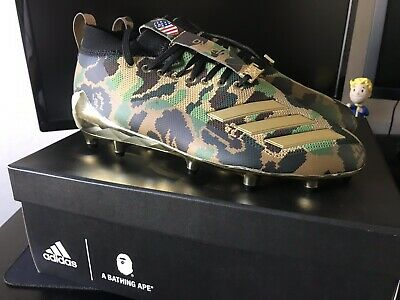promo code 734fe e4421 Adidas x Bape Camo Cleats Black Gold Mens Size 8 US Superbowl Football  Sold Out