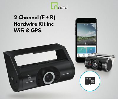 Nefu PLABO Full HD Dash Camera 16gb 2 Channel | Non-LCD + WIFI & App