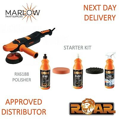 Roar Rx6188 Rotary Polisher And Starter Kit Deal *610 - 620 - 730 - Compound*