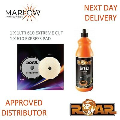 Roar 610 Extreme Cut Compound 1Kg And 610 Express Pad *Deal*   Next Day Delivery