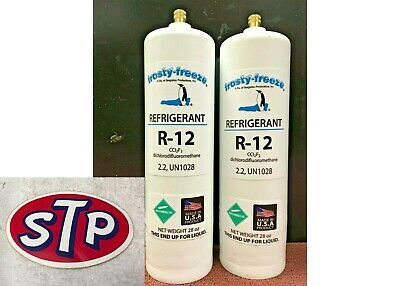 R12, Refrigerant 12, Virgin Pure R-12, (2) 28 oz. Cans, Self-Sealing Cans, Kit E