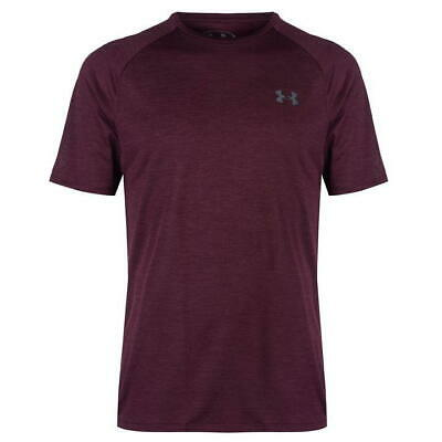 Mens Under Armour UA Technical Training T Shirt Top Maroon Small NEW RB12