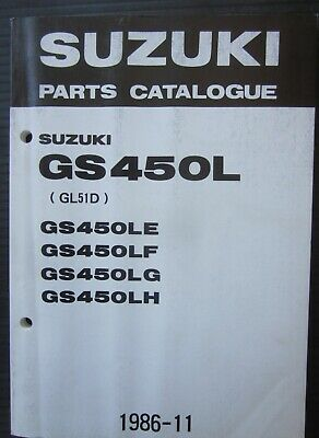 SUZUKI GS 450 LE / LF / LG / LH parts catalogue catalogo parti di ricambio