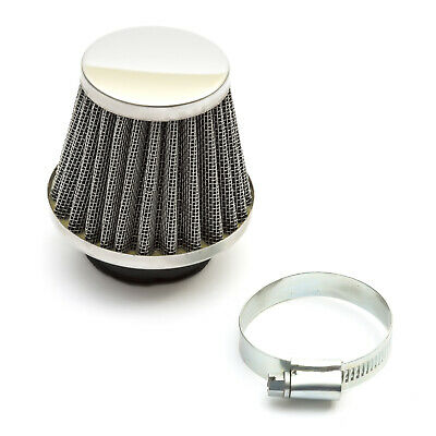 42mm Pitbike Air Filter Silver Performance High flow Mushroom Type Straight Neck
