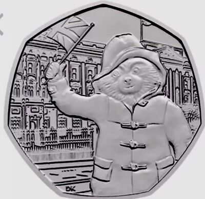 UK GB 50p Pence Coin 2018 Paddington At The Palace New UNC From Bags Buckingham