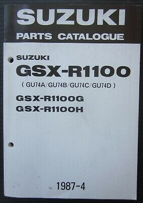 SUZUKI GSX-R 1100 G/ H parts catalogue catalogo catalogo parti ricambio original