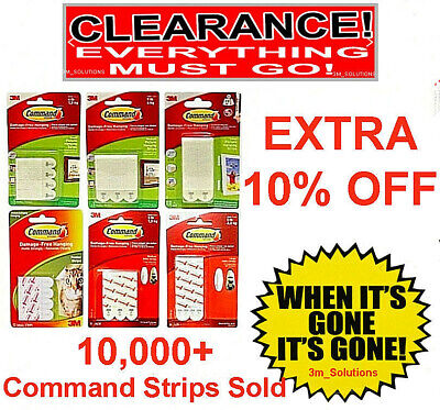 Small Command Strips 3M Adhesive Picture Damage Free Hanging Frames Hook & Loop