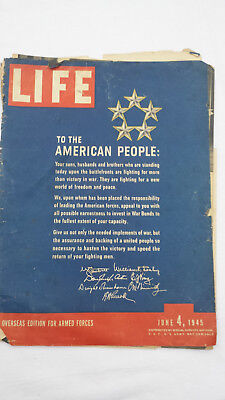 Antike Zeitschrift: Life - To the American People, June 4, 1945-engl. Sprache