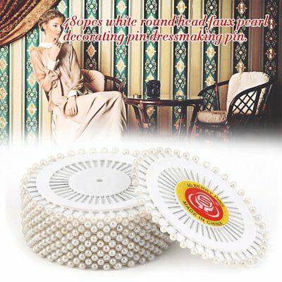 Practical 480Pcs/set White Dressmaking Sewing Pin Straight Pins Round Head#F LHD