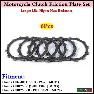 6x New Motorcycle Clutch Friction Plate Disc For Honda CB250F Hornet 1996 | MC31