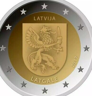 Latvia Coin 2€ Euro 2017 Commemorative Regions Latgale New UNC from Roll