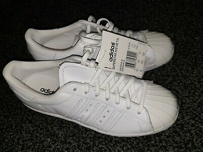 quality design 1b819 fc0bc ADIDAS SUPERSTAR 80'S Metal Toe Trainers- White Uk 4.5