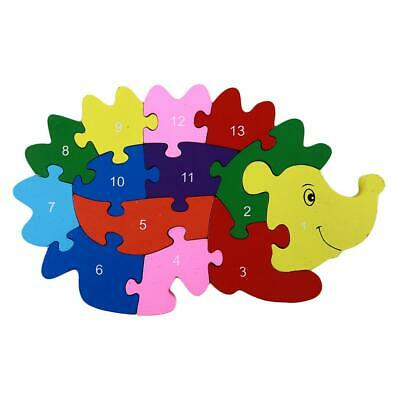 Development Baby Toys 3D Wooden Puzzle Cartoon Learning Educational Kids Toy LIN