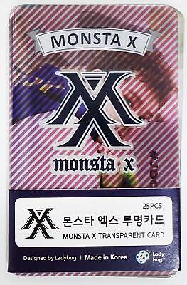 MONSTA X - TRANSPARENT PHOTO CARDS 25pcs [FAN GOODS]