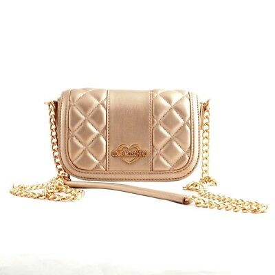 58da6b97b718 Bag small shoulder Love Moschino woman leather quilted pink copper  metallized