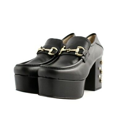 fcb1677df93 ANKLE BOOTS ANKLE Chiara Luciani woman black leather heel robust plateau  pearls