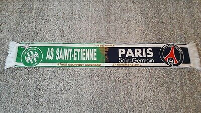 d43d514aac8 AS Saint-Etienne vs Paris Saint-Germain Fanschal   Fußball   scarf echarpe  sjaal