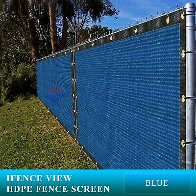 Ifenceview 12'x3'-12'x100' Blue Fence Privacy Screen Mesh Awning Canopy Patio