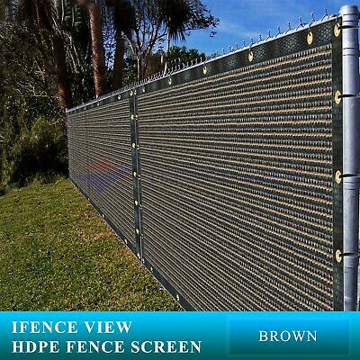 Ifenceview 12'x3'-12'x100' Brown Fence Privacy Screen Mesh Awning Canopy Patio