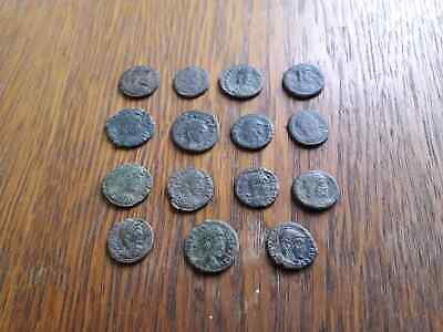 Beautiful Lot Of 15 Ancient Roman Coins For Cleaned