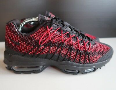 quality design baa09 9f8ad Nike Air Max 95 Ultra JCRD Trainers Black Red Mens Size UK 6 (749771