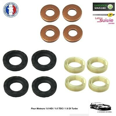 Kit Joint 4 Injecteurs pour Citroën C4 Picasso 1.6 HDi - Montage Bosch - NEUF
