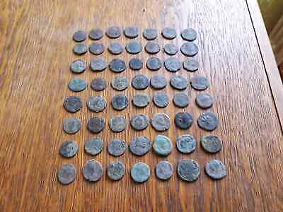 Lot Of 56 Ancient Roman Coins For Cleaned