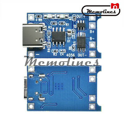 5PCS Type-C USB 5V 1A 18650 TP4056 Lithium Battery Charger Module Charging Board