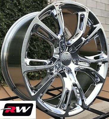 "20"" inch RW Wheels for Jeep Grand Cherokee 20x9 20x10 Staggered Chrome Rims 5x5"""