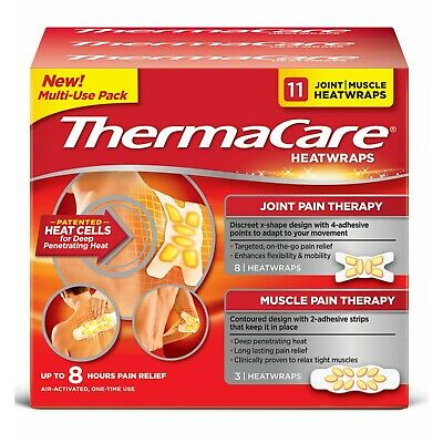 ThermaCare HeatWraps 8-Hour Joint & Muscle Pain Relief Multi-Purpose, 11ct Pack