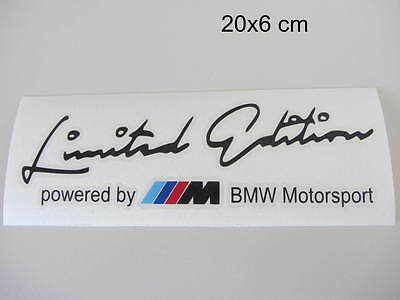 BMW Limited Edition powered by BMW Motorsport Aufkleber Sport Sticker schwarz