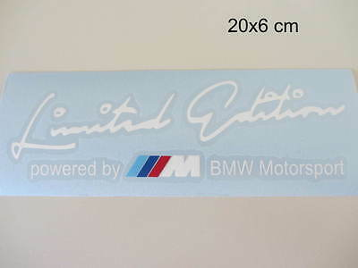 BMW Limited Edition powered by BMW Motorsport Aufkleber Sport Sticker weiß Moto