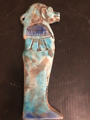 Rare Large Ancient Egyptian Sekhmet Pendant Amulet 26th DYN 680 Bc