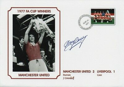 TOMMY DOCHERTY Signed FDC 1977 FA Cup MANCHESTER UTD COA