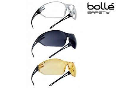 d38df5c4bb61 Bolle Slam Wrap Around Safety Glasses Clear, Smoked or Yellow Tinted Lens  Specs