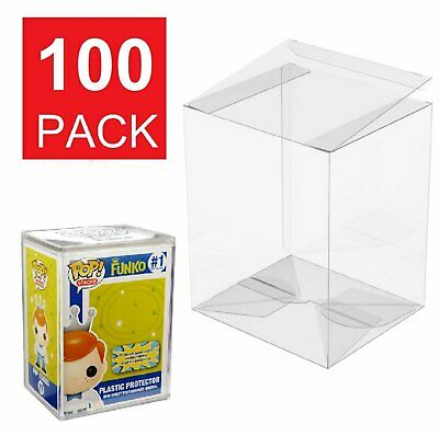 100 Collectible Funko Pop Protector 4 inch Vinyl Box Crystal Clear Acid Free