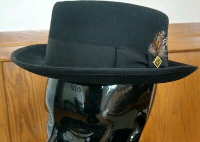 Stacy Adams Mens Fedora Black Wool Felt Hat 27766b70422c